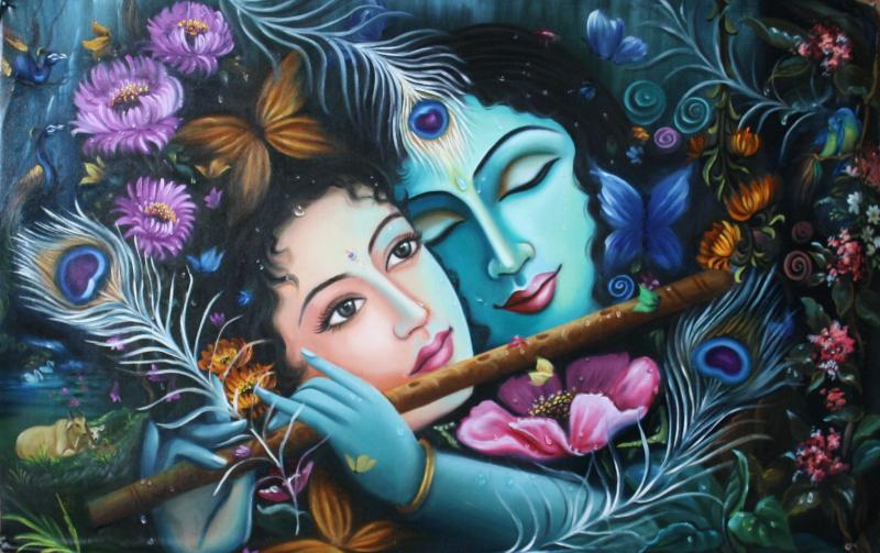 Saritas radha krishna murals paintings for Mural radha krishna